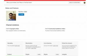 Verify YouTube Channel