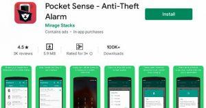 Pocket Sense Anti theft alarm