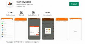 Flash Keylogger Android App