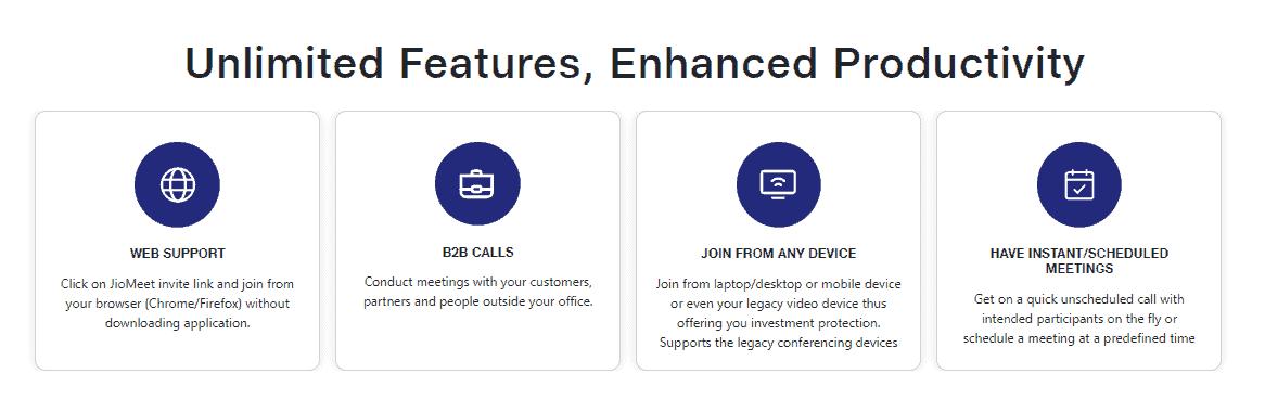 JioMeet App के Features